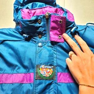 K-Way Vintage 2 Piece Snow Suit Winter Ski Jacket